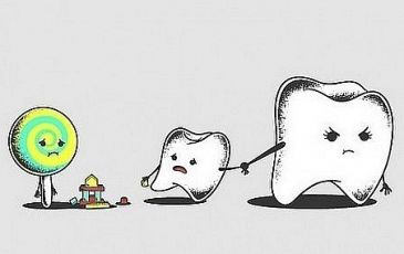 Почему сладкое вредит зубам?