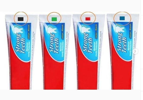 Маркировка на тюбиках зубной пасты